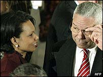 Condoleezza Rice and Colin Powell