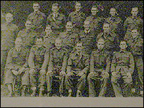 Charlie Evans - top right - with friends from the Royal Welch Fusiliers in 1940
