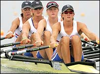 (From left to right) Rebecca Romero, Sarah Winckless, Frances Houghton and Katherine Grainger