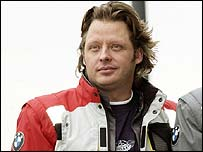 Charlie Boorman who rode around the world on his bike