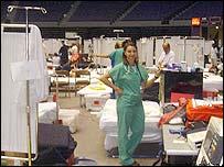 Inside field hospital