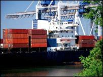 Container ship, Port of Savannah, Georgia
