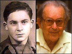 Yehuda Bacon - picture in 1945 and 2005