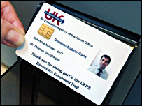 Demonstration ID card (BBC)