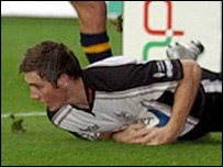 Ospreys centre Andrew Bishop scored after just 19 seconds