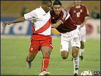 Partido de futbol entre Perú y Venezuela