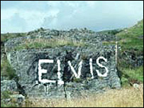 The famous Elvis Rock before it disappeared