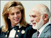 Late Jordanian King Hussein and Queen Noor