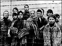 Children imprisoned in Auschwitz