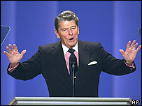 Former US President Ronald Reagan