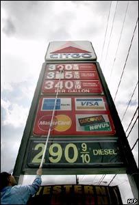 Rising US gasoline prices