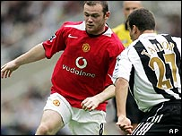 Recent Premiership match between Manchester United and Newcastle United