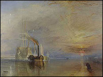 The Fighting Temeraire by Turner (copyright the National Gallery)