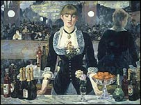 A Bar at the Folies-Bergere by Manet (copyright the National Gallery)