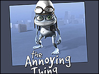 The Crazy Frog in its original incarnation on Eric Wernquist's site