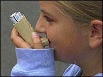A girl with an inhaler, BBC