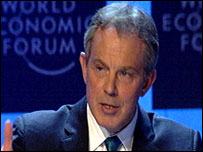 Tony Blair at the World Economic Forum in Davos