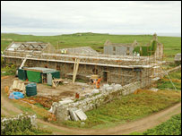 Renovation work (pic from Countryside Council for Wales)