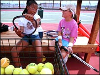 Tennis volunteer