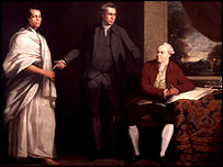 Portrait of Omai, Joseph Banks and Dr Daniel Solander (c.1775-6)