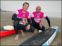 James Cracknell and Pete Craske