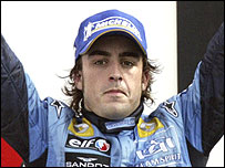 New Formula One world champion Fernando Alonso