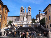 The Spanish Steps in the Italian capital, Rome