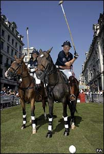 Polo players during the Regent Street Summer Festival