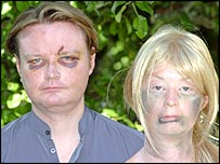 Lauren Harries and her brother Adam (photo courtesy Western Mail)