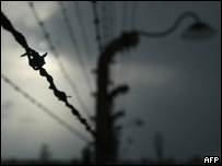 Barbed wire surrounding Auschwitz-Birkenau concentration camp