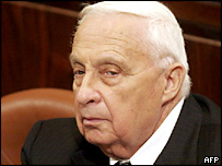Israeli Prime Minister Ariel Sharon speaks to the Knesset to mark 60 years since Auschwitz was liberated