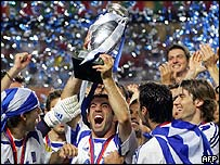 Greece winning Euro 2004