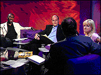 On the set of Newsnight Review