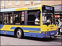 A Solent Blue Line bus
