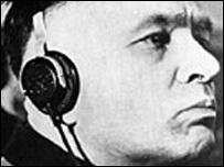 Rudol Höss, comandante de Auschwitz, durante su juicio por crímenes de guerra