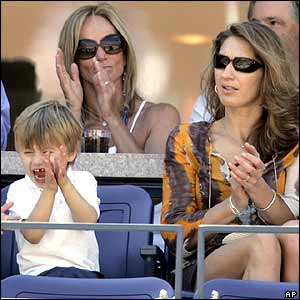 Andre Agassi's son Jaden Gil (left) and wife Steffi Graf