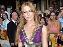 Keira Knightley at the Pride and Prejudice premiere