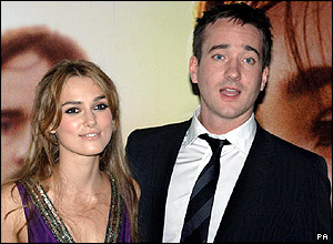 The film's stars Keira Knightley and Matthew Macfadyen