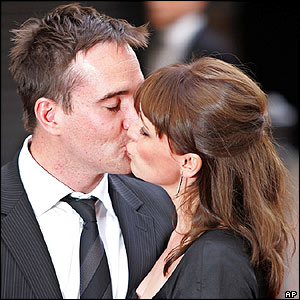 Matthew Macfadyen with wife