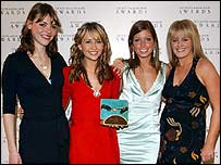 Coronation Street actresses, from left to right; Kate Ford, Samia Ghadie, Nikki Sanderson and Sally Lindsay