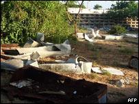 A view of Suka Hola cemetery in Mogadishu, Somalia