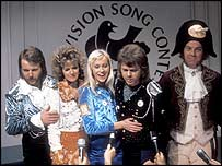 Abba at Eurovision Song Contest in 1974
