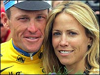 American cycling star Lance Armstrong and rock singer Sheryl Crow