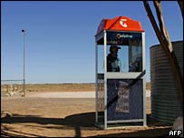 A rural user of a Telstra phone box