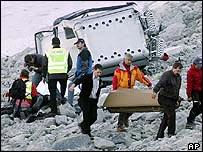 Crash scene in Soelden, Austria