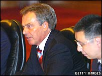 Tony Blair during his China trip