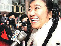 Nina Wang outside court, 2002