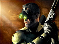 Close-up of Splinter Cell pack, Ubisoft