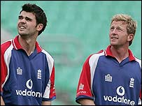 James Anderson and Paul Collingwood are looking for a starting spot at The Oval