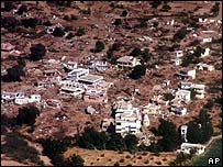 Damage caused by the earthquake in Bhuj, Gujarat, India, in 2001